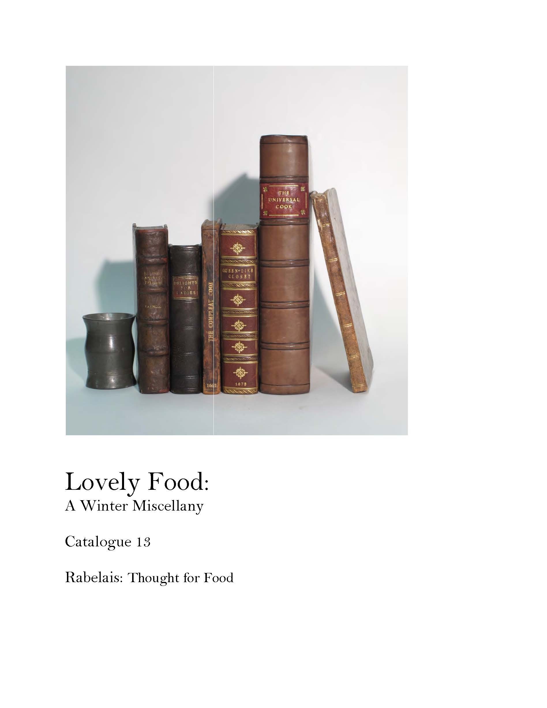 Catalogue 13 'Lovely Food'