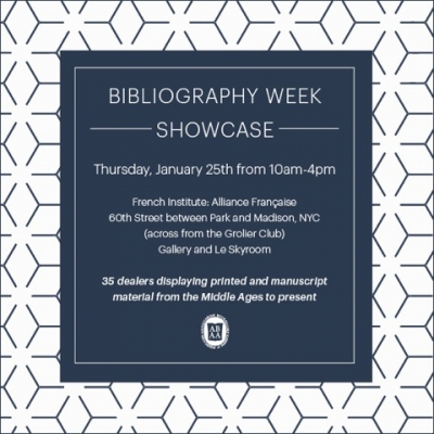 2018 Bibliography Week ABAA Showcase
