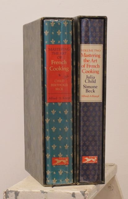 Mastering the Art of French Cooking (Volumes 1 & 2, both signed). Julia Child, Louisette Betholle, Simone Beck.