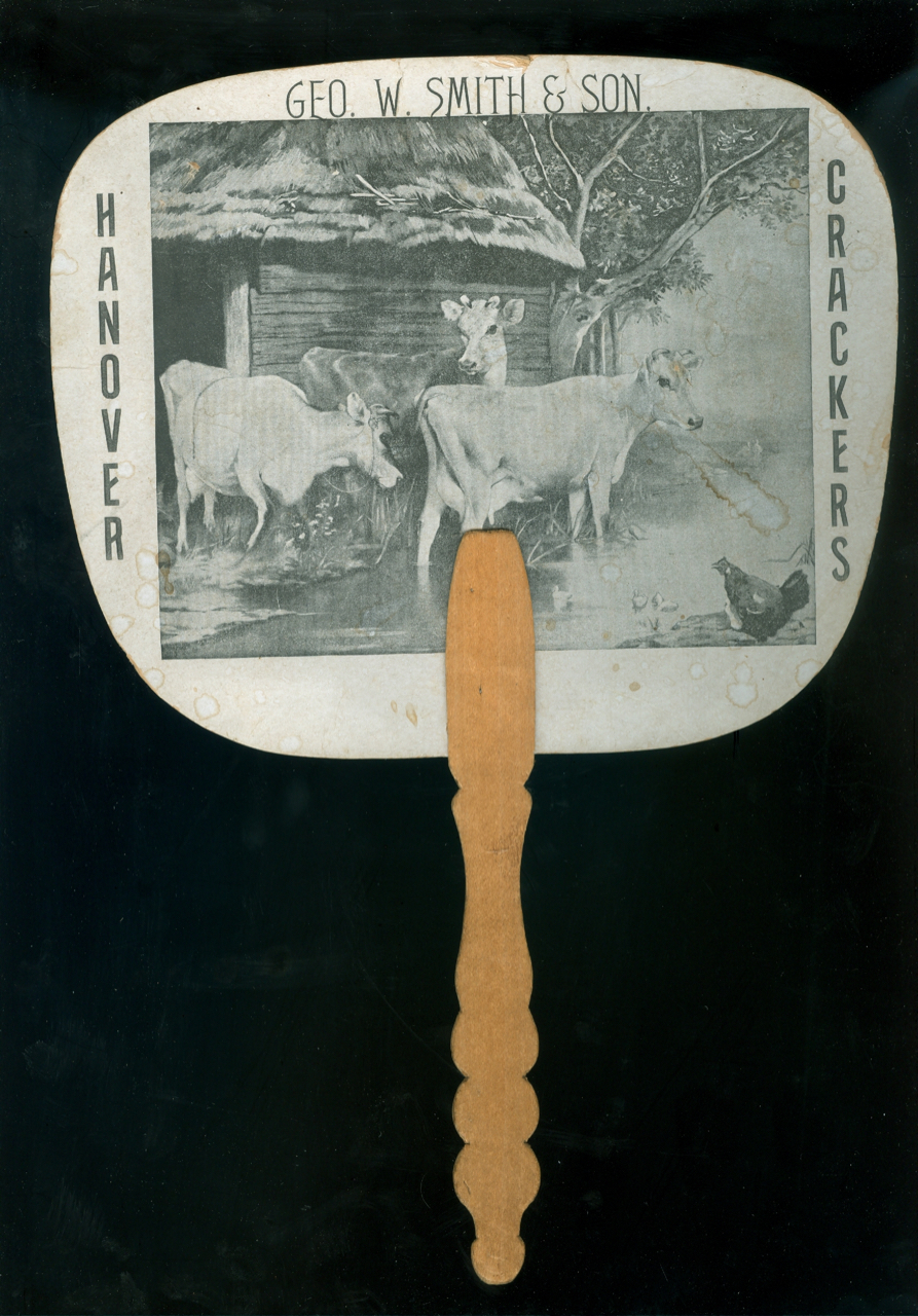 [Advertising Hand-fan]. Advertising Hand-fan, Ge W. Smith, Manufacturing Bakers and Confectioners Son, rge.