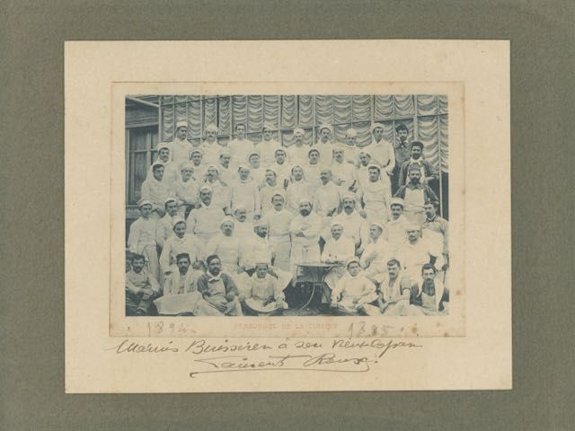 Personnel de la Cuisine [caption title]. Photograph - kitchen staff.