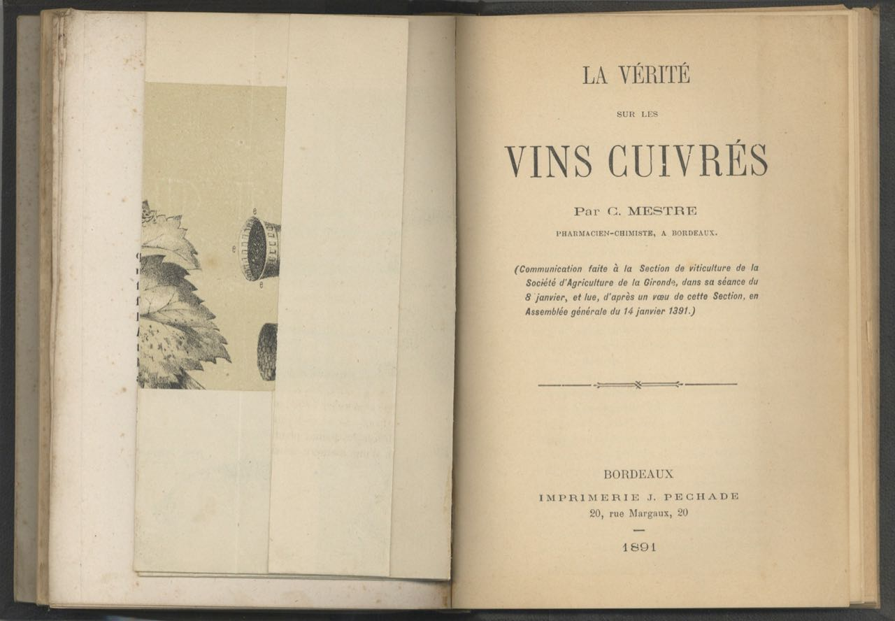 [Six rare booklets on spirits, wine, health, and viticulture]. Sammelband – drink.
