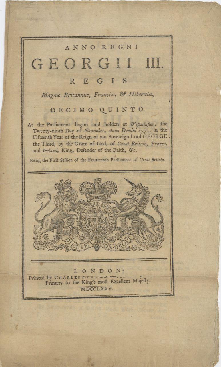 Anno Regni Georgii III. Regis Magnae Britanniae... An Act to continue for a further time an Act, intituled... An Act for Importation of Salted Beef, Pork, Bacon, and Butter from Ireland...and for allowing the Importation of Salted Beef... from the British Dominions in America. Acts, Pork Ordinances: Salted Beef, and Butter, Bacon.