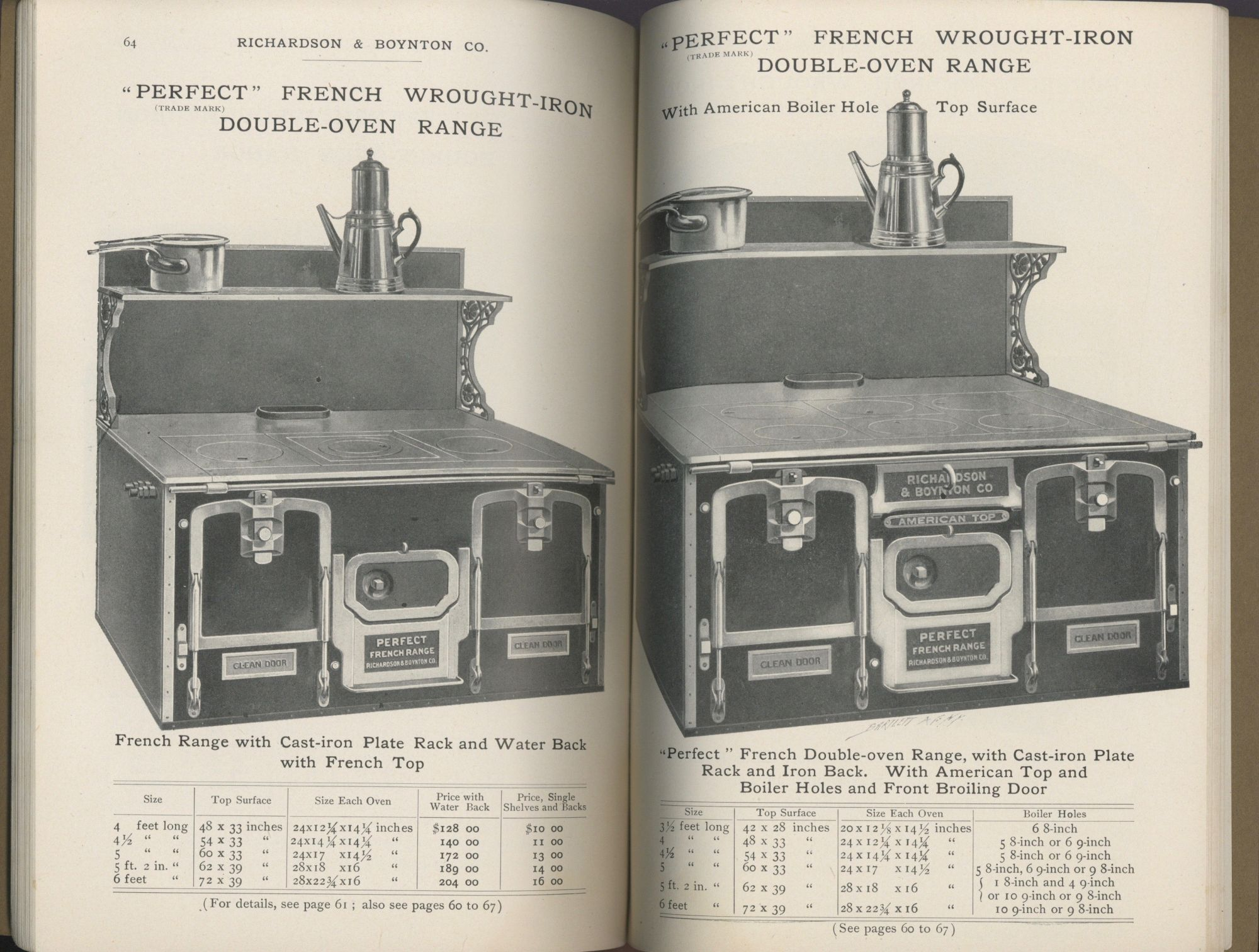 """The Celebrated """"Perfect"""" Heating Furnaces and Cooking Ranges: """"Perfect"""" Manufactured by Richards & Boynton Co. Catalogue 53."""