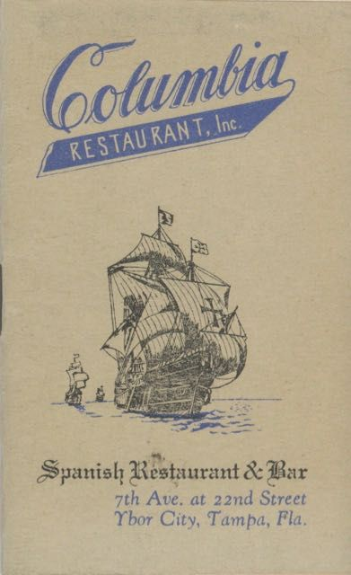 Compliments of Columbia Spanish Restaurant and Bar. [Cover title: Columbia Restaurant Inc., Spanish Restaurant & Bar, 7th Ave. at 22nd Street.]. Genial Tony, Florida Ybor City, Columbia Restaurant Inc.