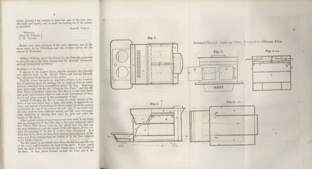 Report of a trial for violation of the patent right of the 'American Air-Tight' cooking-stove, in the Circuit Court of the United States within and for the district of Massachusetts : wherein Elias Johnson and David B. Cox, were plaintiffs, and Peter Low and George W. Hicks, were defendants.