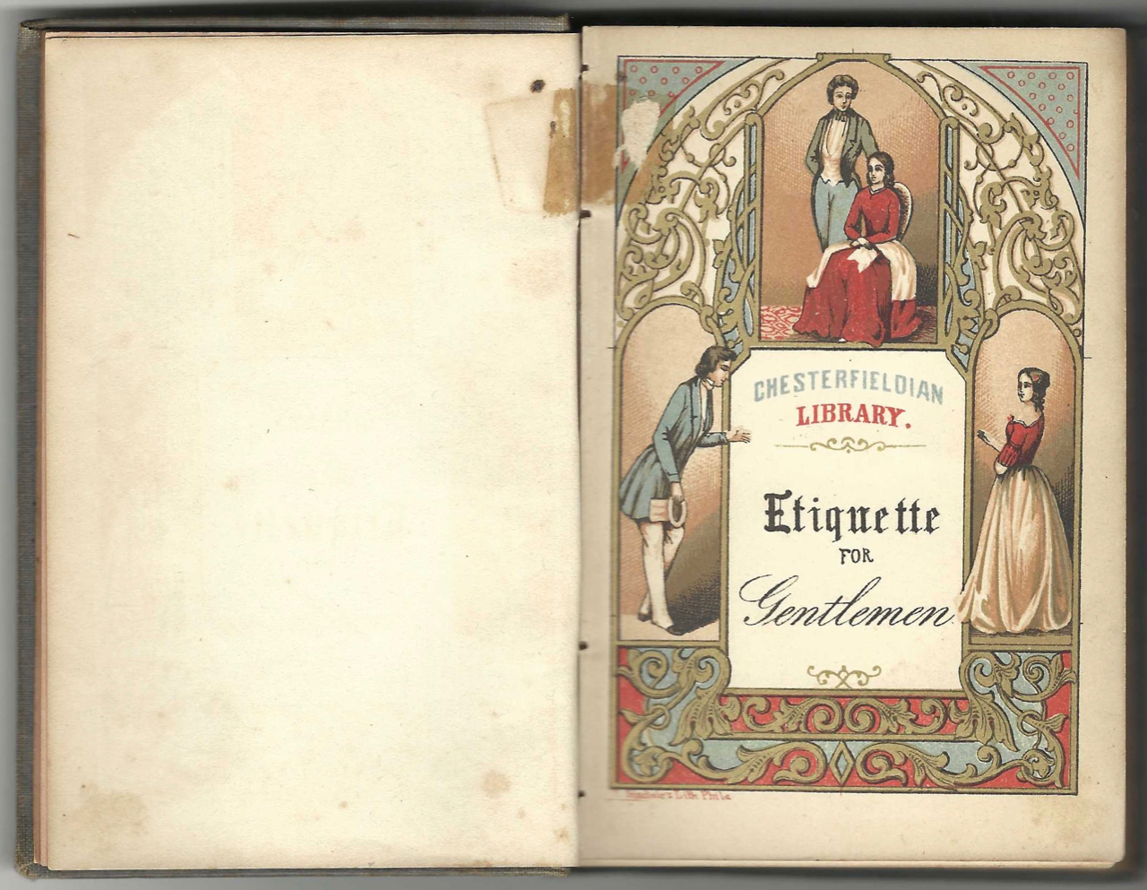 Etiquette for Gentlemen, or short rules and reflections for conduct in society. By a Gentleman. a Gentleman, lithographer, Thomas S. Sinclair.