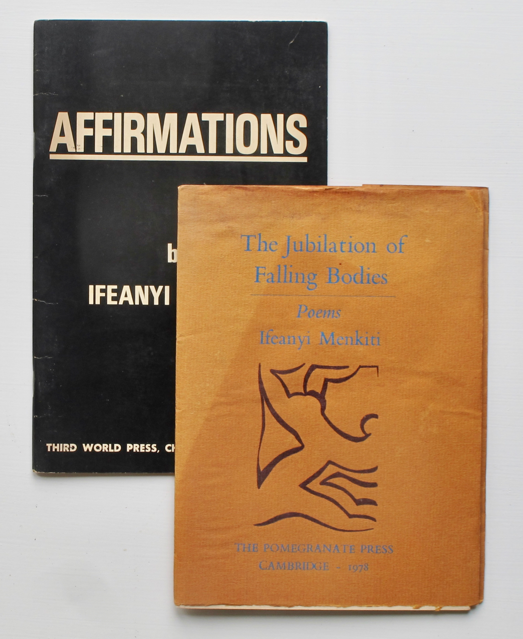The Jubilation of Falling Bodies: Poems.[WITH:]Affirmations. Ifeanyi Menkiti.