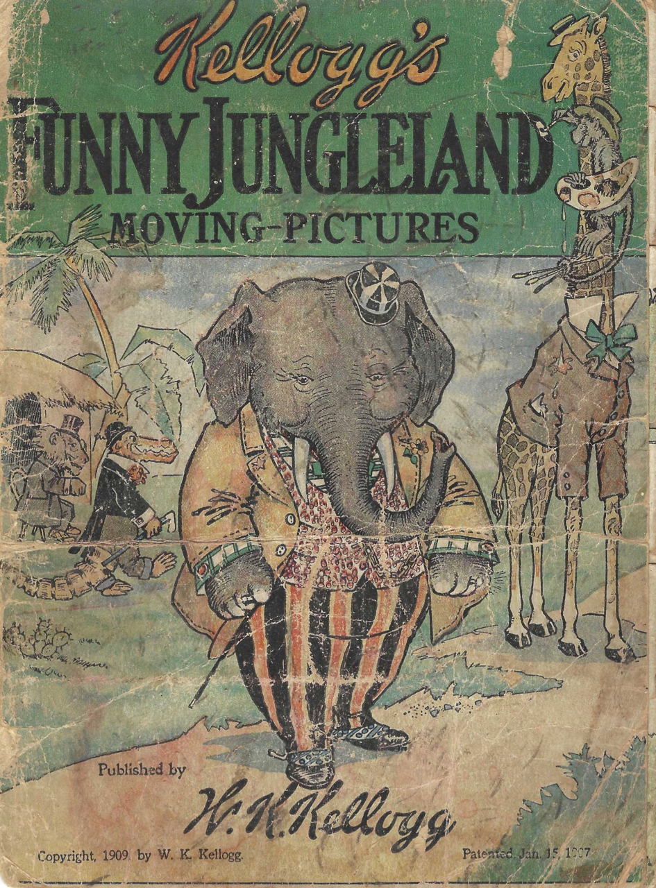 "Kellogg's Funny Jungleland [Jungle Land] Moving-Pictures. [""To Market"" issue]. Cereal Premium – W. K. Kellogg."