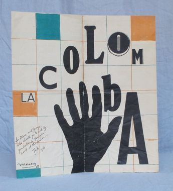 La Colomba. Menu - Surrealist, E. L. T. Mesens