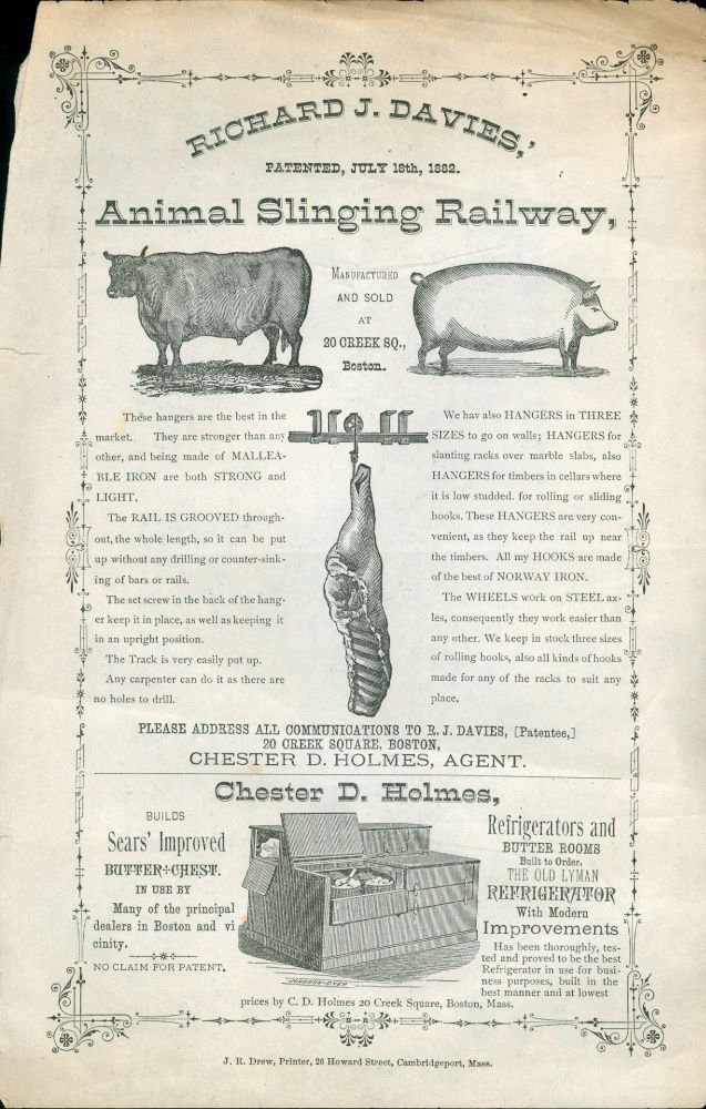 Animal Slinging Railway and Refrigerators. Richard J. Davies, Chester D. Holmes.