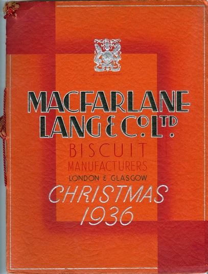 MacFarlane, Lang Co. Ltd. Biscuit Manufacturers, London & Glasgow, Christmas 1936. Lang...
