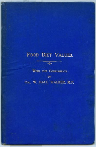 Food Diet Values. W. Hall Walker, George Aloys Peat.