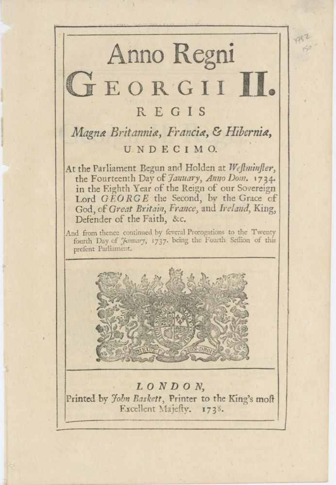 Anno Regni Georgii III. Regis Magnae Britanniae... An Act to continue two several acts therein...
