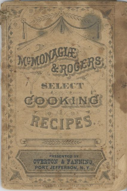 McMonagle & Rogers Select Cooking Recipes. McMonagle, Rogers