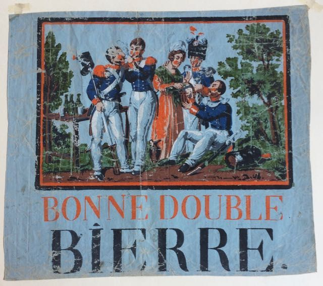 Bonne double bierre. Wallpaper advertising broadside - Beer, Paulot, Carr&eacute