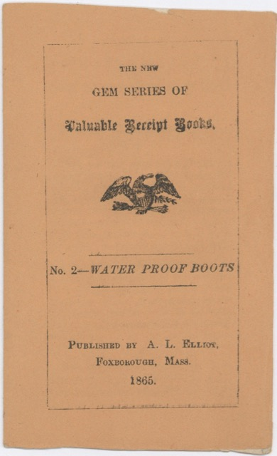 The new gem series of valuable receipt books: No. 2 – water proof boots. dry Non-culinary recipes - warm, feet.
