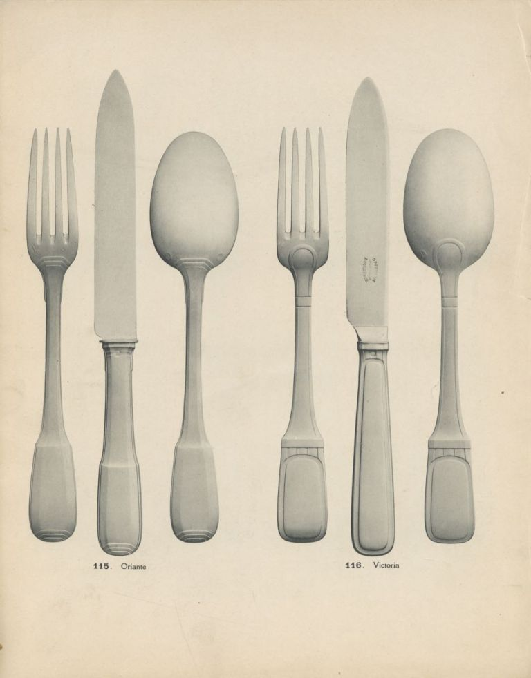 Couverts Orfèvrerie : style moderne. No. 6. Trade catalogue – Tableware, Boulenger