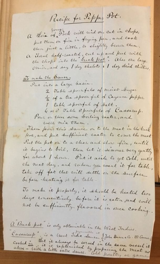 Scrapbook containing individual recipes in French and English. Manuscript – recipe scrapbook.