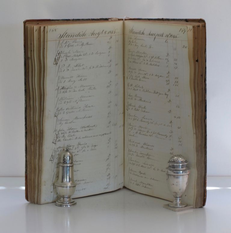 Manuscript Account Book of the Dry Goods Merchant Gardner Dennett. Manuscript – Merchant's...