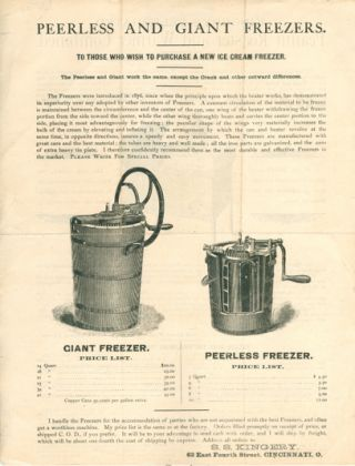 Kingery's Celebrated Peanut Roaster and Warmer Combined [and] Peerless and Giant Freezers.