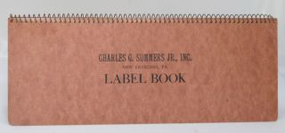 Charles G. Summers Jr., Inc. New Freedom, PA. Label Book.