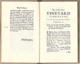 The English Vineyard Vindicated... with an address, where the best plants are to be had at easie rates.