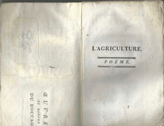 L'Agriculture: Poëme. Seconde édition.
