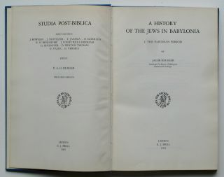 A History of the Jews in Babylonia: 1. The Parthian Period.