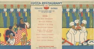 [Convolute of materials related to the Italian restaurant Lucca, with branches in San Francisco & California].