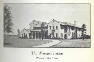The Woman's Forum of Wichita Falls Cook Book. Compiled and Edited by Mrs. G. D. Anderson [et al.].